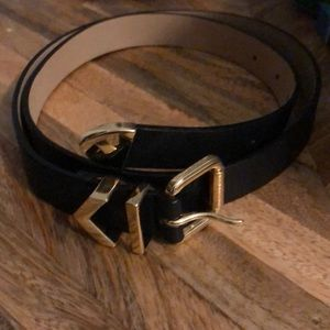 J. Crew chevron buckle leather belt
